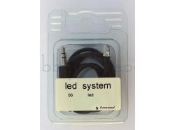 LED 5 mm blu luce diffusa con spinotto e cavo da cm  90 .- LED SYSTEM