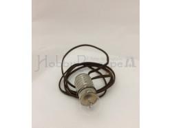 Portalampada nudo con fili e lampadina 12 V  E10