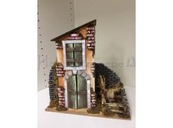 Casetta in legno e cartone - 28 x 15  e h 30