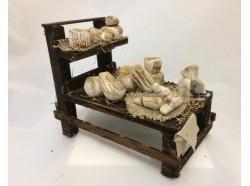 Bancarella in terracotta di formaggi - cm 12 Melù