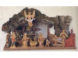 Capanna con luce  presepe Fontanini per statue da 10 CM