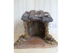 Capanna in legno - cm 27x34 h 30