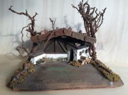 Capanna in legno - cm 30x49 h 22