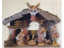 Capanna presepe Fontanini per statue da 19 CM con luce