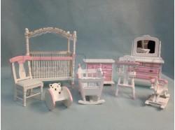Camera da letto per bambine - scala 1:12