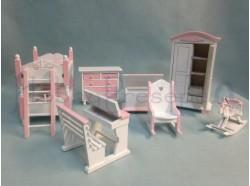 Camera da letto per bambine - scala 1:12 - Casa bambole