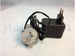 Motoriduttore e trasformatore cassa piccola 5 gir./min.  12 V.