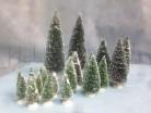 Pini con neve - 21 pezzi di 4 misure
