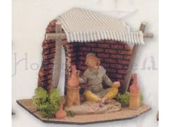 Bottega del vasaio presepe Fontanini per statue da 12 CM