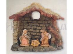 Capanna viillaggio presepe Fontanini per statue da 6,5 CM