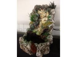 Cascata  con pompa per l\'acqua con luce - Presepi Pigini - cm 21x33x26