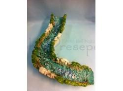 Fiume curva a sinistra - Presepi Pigini - dimensioni cm 42x10