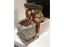 Fontana con pompa per l\'acqua - Presepi Pigini - cm 7x11x12