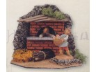 Forno con fuoco funzionante  presepe Fontanini   12 CM