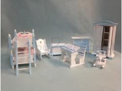 Camera da letto per bambini - scala 1:12 - Casa Bambole