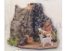 Fuoco funzionante presepe Fontanini per statue da 12 CM
