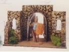 Muro con archi  presepe Fontanini per statue da 12 CM