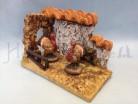 Pollaio con tacchini - presepio cm 10
