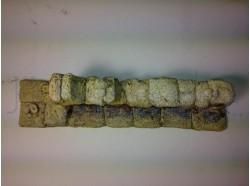 Rudere muretto  tipo pietra chiara in resina