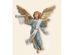 Angelo azzurro con tromba - Fontanini 12 CM