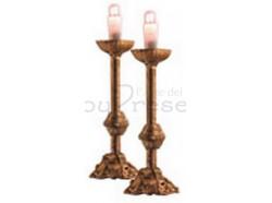 Candelieri - coppia - per statue da cm 30 - Presepi Pigini