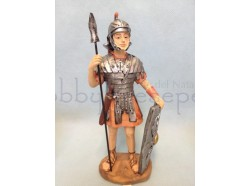 Soldato in piedi con lancia e scudo - presepio cm 12