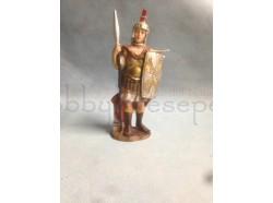 Soldato romano con lancia e scudo cm 15