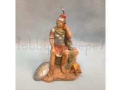 Soldato romano seduto - Fontanini 12 cm