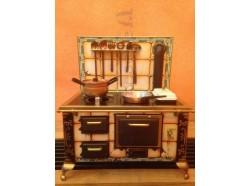 Cucina economica antica in latta - Casa Bambole