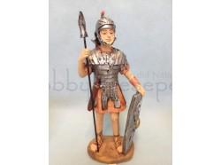 Soldato in piedi con lancia e scudo - presepio cm 9