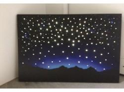 Cielo luminoso - Led con fibra ottica  cm 60 x 40