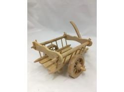 Carretto in legno a due ruote - lunghezza cm. 24