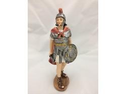 Soldato romano con scudo e spada