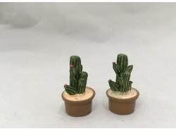 Cactus in vaso - set 2 pezzi