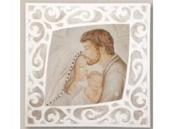 Quadro Sacra Famiglia  cm.37 x 37