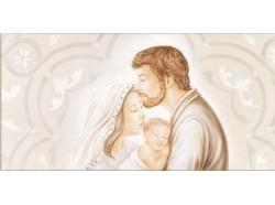 Quadro Sacra Famiglia - capoletto cm 80 x 40