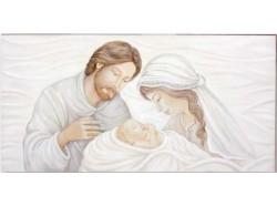 Quadro Sacra Famiglia - capoletto cm. 100 x 50 x 4