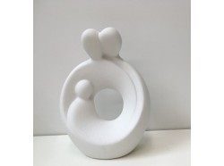 Sacra Famiglia in gres porcellanato - altezza cm. 19,5