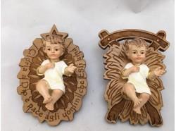 Gesù bambino con culla in ulivo