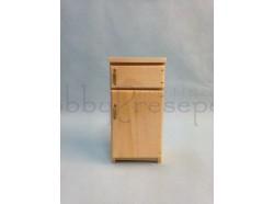 Frigorifero  In legno verniciato - Casa Bambole