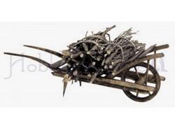Carriola con legname - lunghezza cm 16 - Presepi Pigini