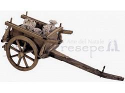 Carro con sacchi - lunghezza cm 40 - Presepi Pigini